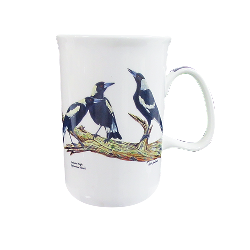 ASHDENE Mug Birds of Australia Magpie - NEW
