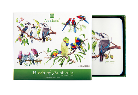 ASHDENE Coasters Birds of Australia - Set of 6