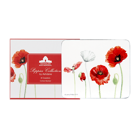 ASHDENE Coasters Poppies