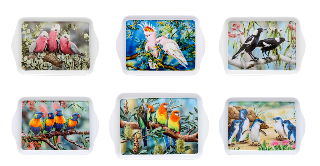 Ashdene Scatter Trays - Australian Bird and Flora - Set of 6