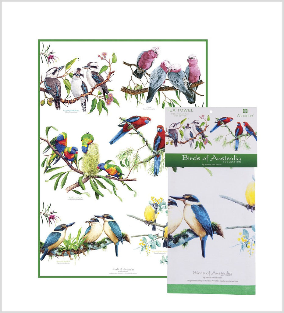 ASHDENE Tea Towel Birds of Australia Mixed - Houzethat - 2