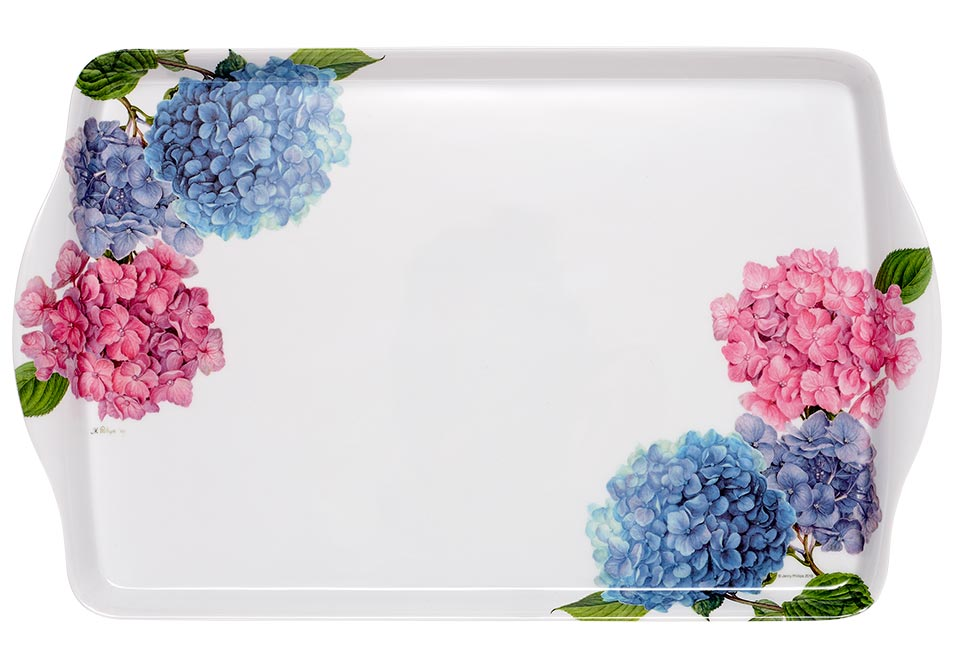 ASHDENE Medium Tray Pastel Hydrangeas