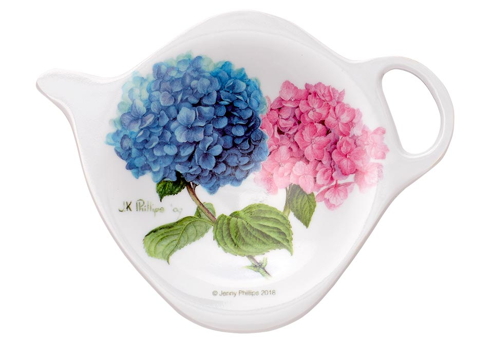 ASHDENE Tea Bag Holder  Pastel Hydrangeas