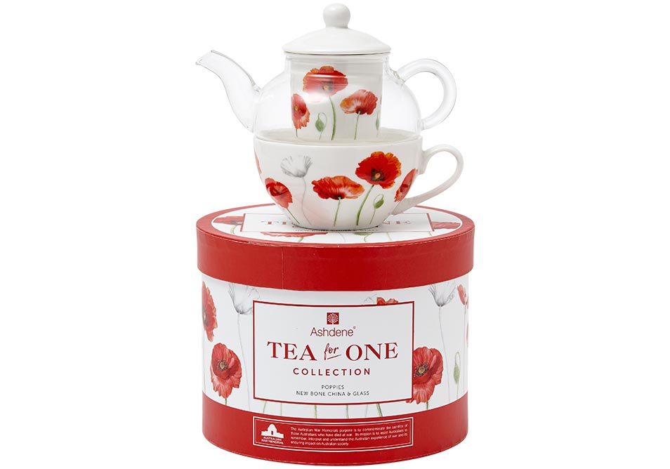 ASHDENE Tea For One Poppies