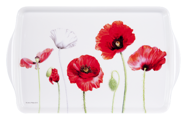 ASHDENE Medium Tray Poppies - Houzethat