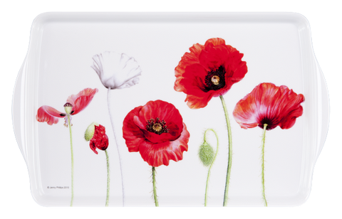 ASHDENE Medium Tray Poppies