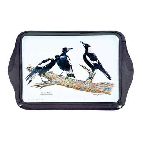 ASHDENE Scatter Tray Birds of Australia Magpie