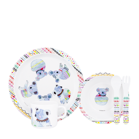 ASHDENE Child Dinner Set Cooee Koala (Melamine)