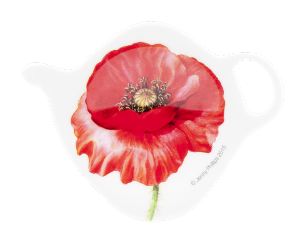 ASHDENE Tea Bag Holder Poppies - Houzethat