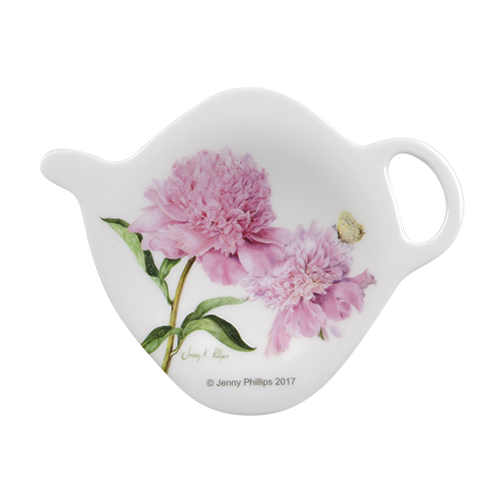 ASHDENE Tea Bag Holder Pink Peonies