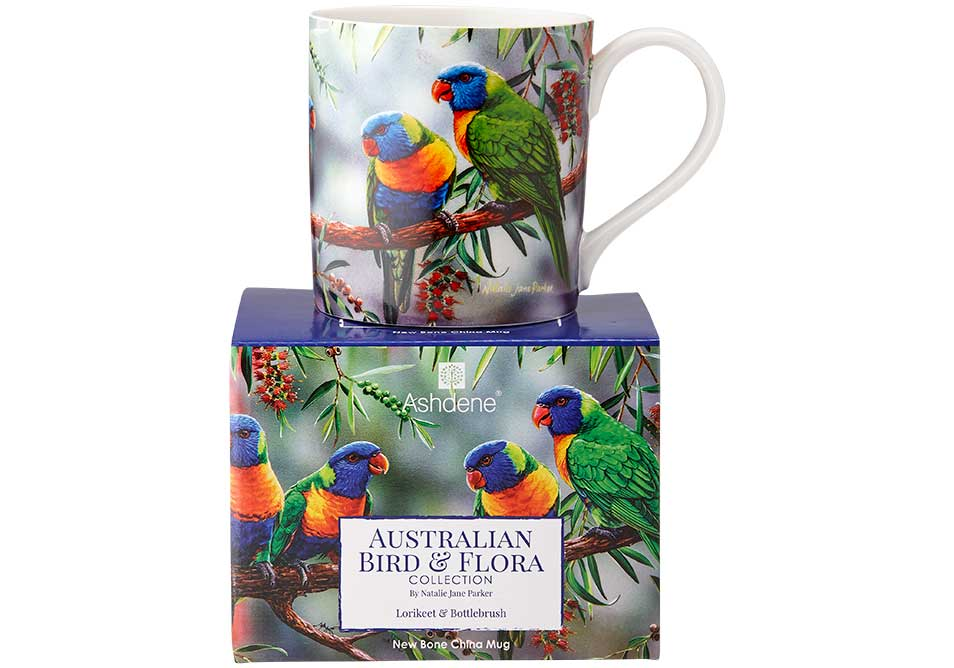 Ashdene Mug Lorikeet & Bottlebrush - Australian Bird and Flora