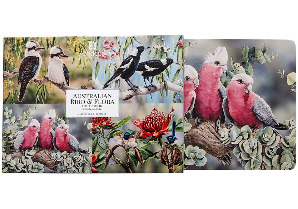 Ashdene Placemats Australian Bird and Flora - Set of 4