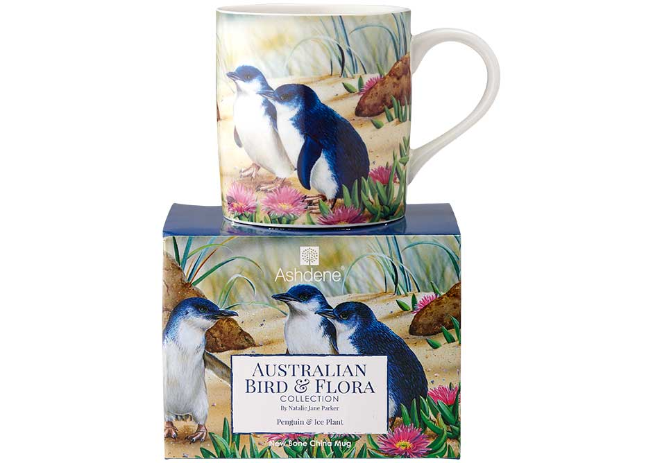 Ashdene Mug Penguin & Ice Plant - Australian Bird and Flora