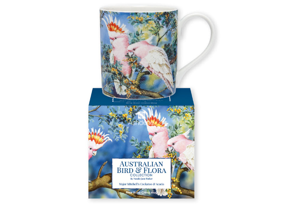 Ashdene Mug Major Mitchell & Acacia - Australian Bird and Flora