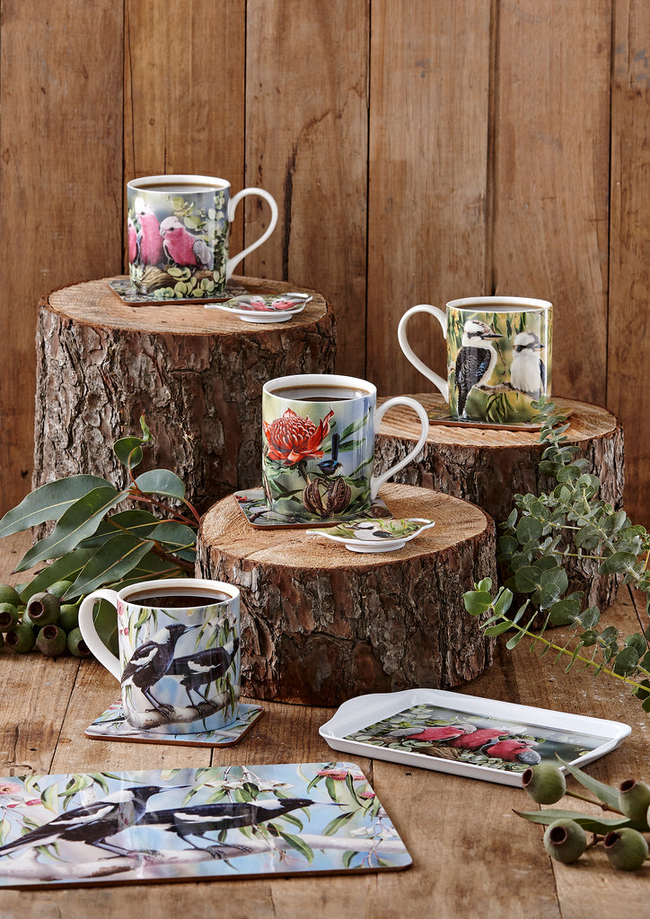 Ashdene Mug Magpie & Flowering Red Gum - Australian Bird and Flora