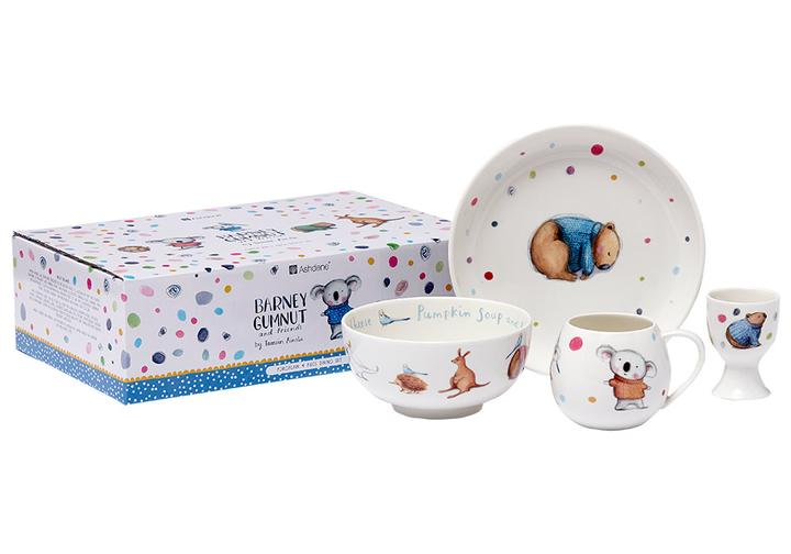 ASHDENE Kids Ceramic Dinner Set Barney Gumnut