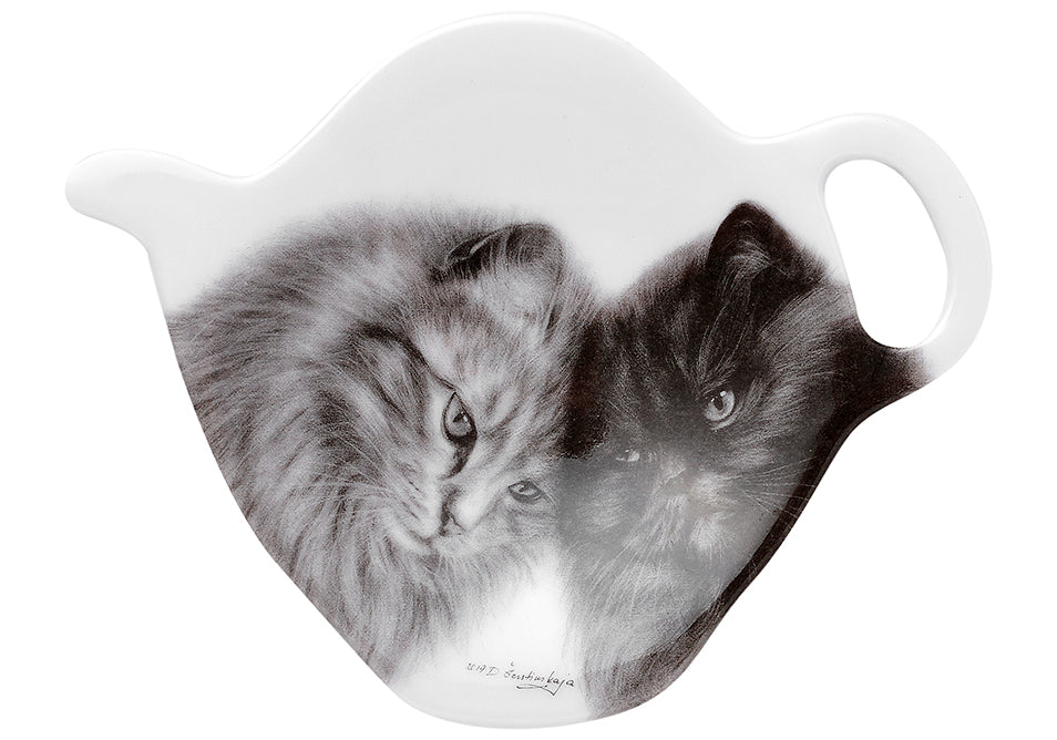 ASHDENE Feline Friends Bonding Buddies Tea Bag Holder
