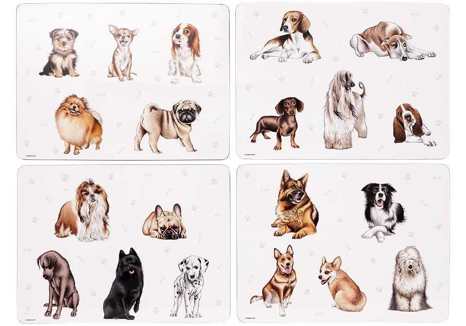 ASHDENE Kennel Club 4pk Placemat