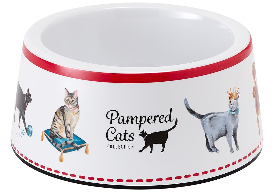 ASHDENE Pampered Cats Large Pet Bowl