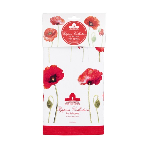 ASHDENE Tea Towel Poppies