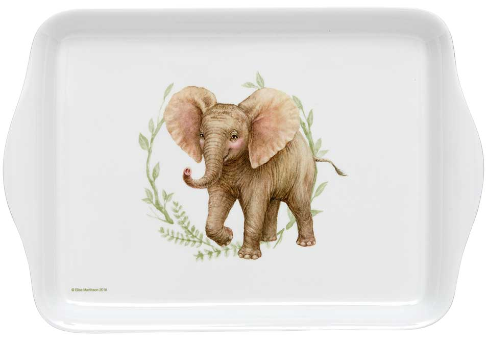 ASHDENE Elephant Scatter Tray Wild Baby Animals