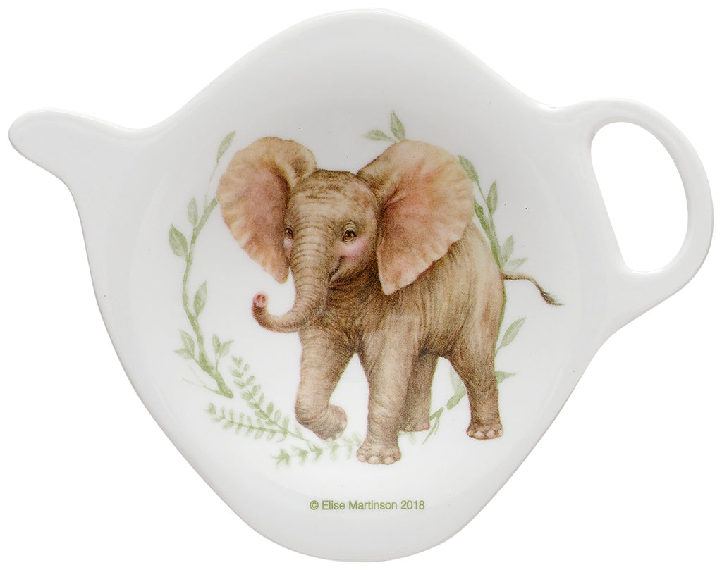 ASHDENE Elephant Tea Bag Holder Wild Baby Animals