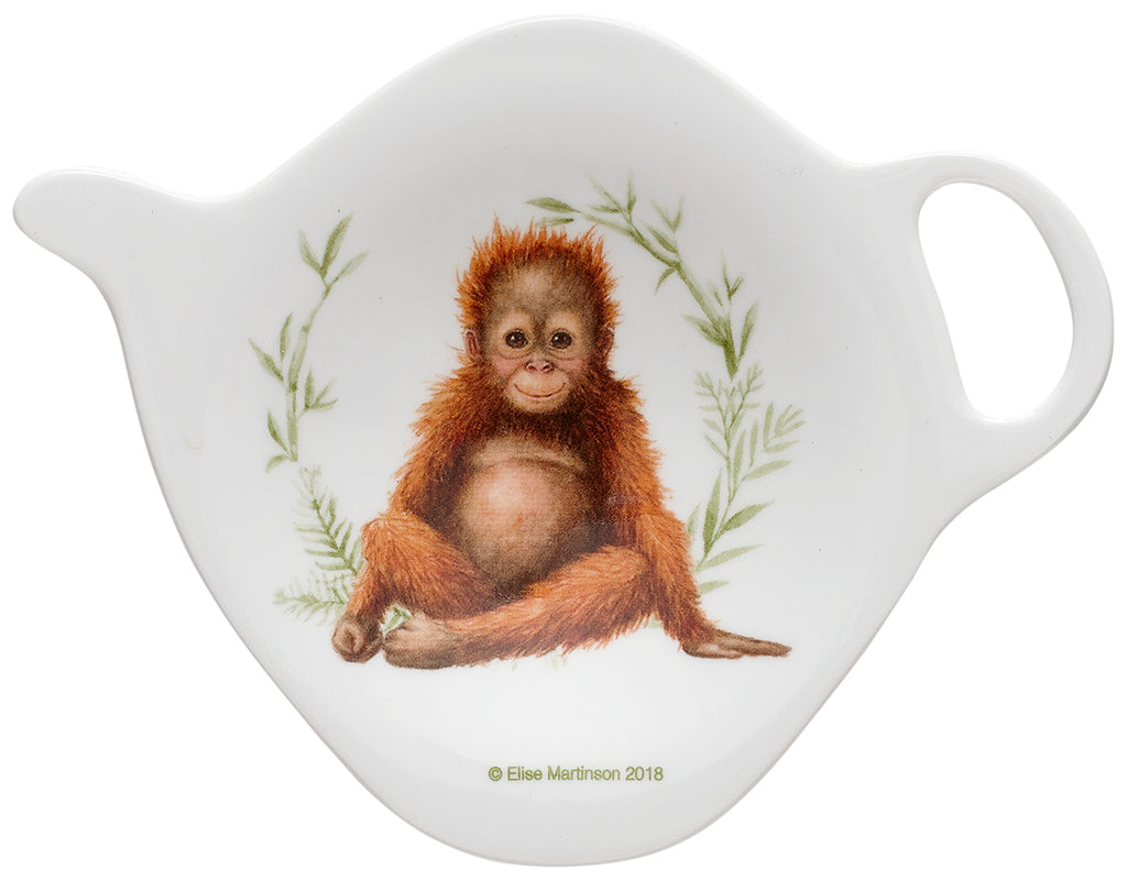 ASHDENE Orangutan Tea Bag Holder Wild Baby Animals