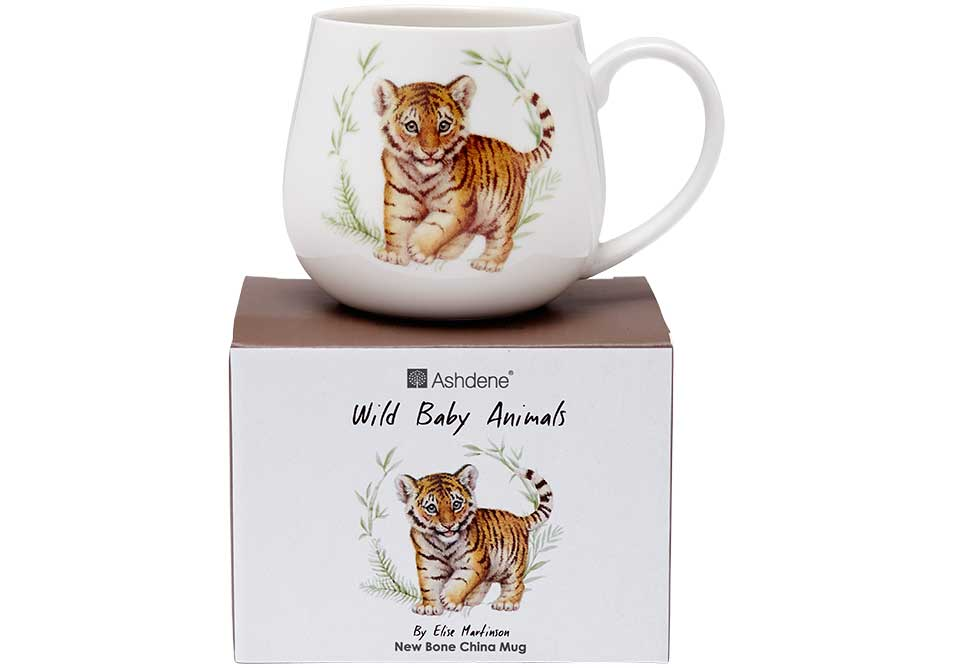 ASHDENE Tiger Snuggle Mug Wild Baby Animals