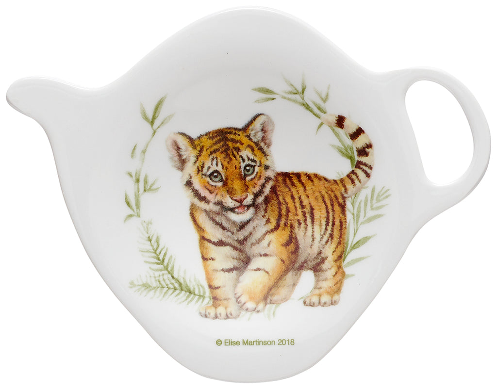 ASHDENE Tiger Tea Bag Holder Wild Baby Animals