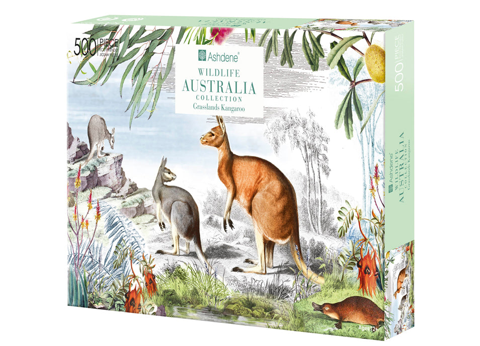 Grasslands Puzzle 500 Piece - Wildlife Australia