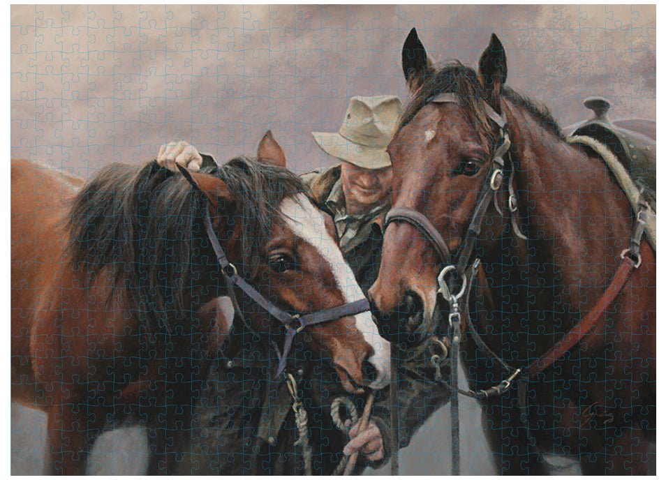 Best Mates Puzzle 500 Piece - Working The Land Horse