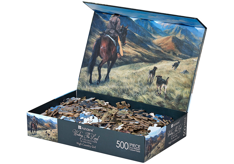 High Country Puzzle 500 Piece - Working The Land Horse