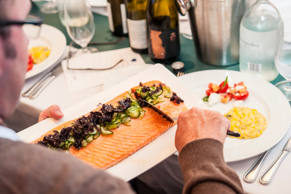 """Ruth Pretty Catering Pinot Noir Event Wellington Waterfront 2017 - Shared Dish - Salmon - Dining with Friends"""