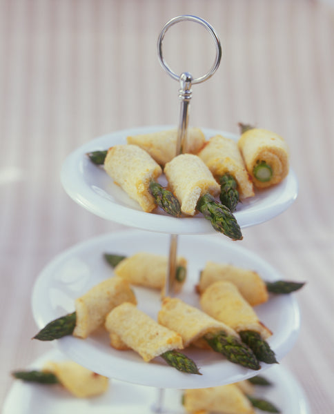 Toasted Asparagus and Swiss Cheese Rolls