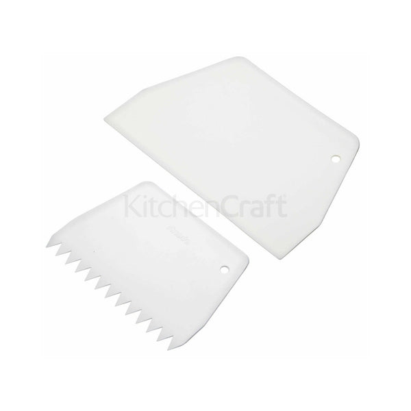 Kitchencraft Pack Of 2 Cake Scrapers