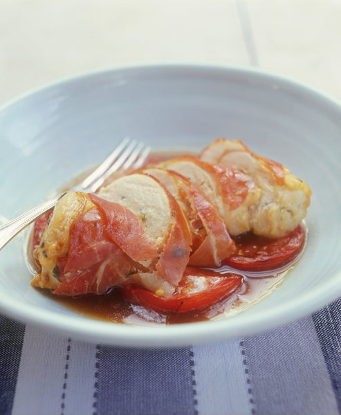 Prosciutto Chicken with Tomatoes