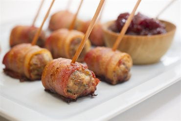 Bacon Wrapped Turkey and Parmesan Sausages