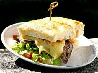 Barbecued Minute Steak Focaccia Sandwich