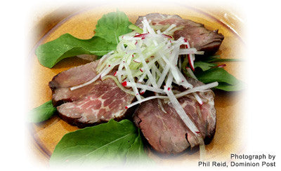 BEEF SALAD WITH MANUKA HONEY DRESSING