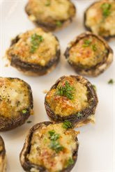 Button Mushrooms Stuffed with Pork and Herbs