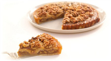 CARAMELISED WALNUT AND APPLE TART