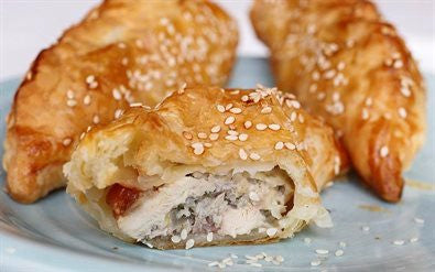 Chicken Quince Pasties and Spiced Yoghurt