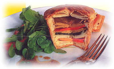 DEEP DISH STRIPED VEGETABLE PIE