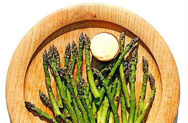 Oven Roasted Asparagus with Parmesan Mayonnaise