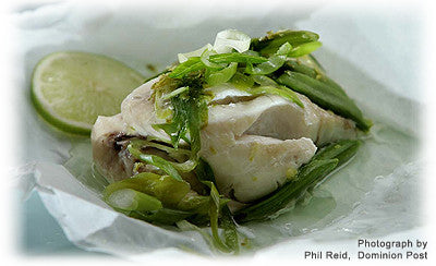 PARCELS OF STEAMED FISH WITH JAPANESE FLAVOURS