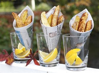 Parmesan Crumbed Fish with Handmade Fries