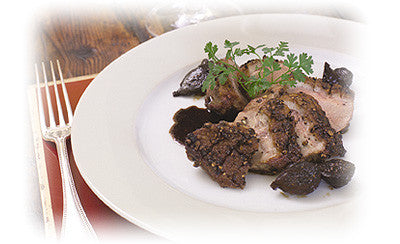 PEPPERED DUCK WITH BALSAMIC FIGS