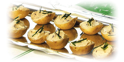 POTATOES STUFFED WITH ANCHOVY PASTE