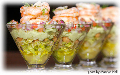 PRAWN AND AVOCADO COCKTAIL WITH CHICKPEAS