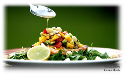 PRAWN, MANGO AND AVOCADO SALAD WITH RUM DRESSING